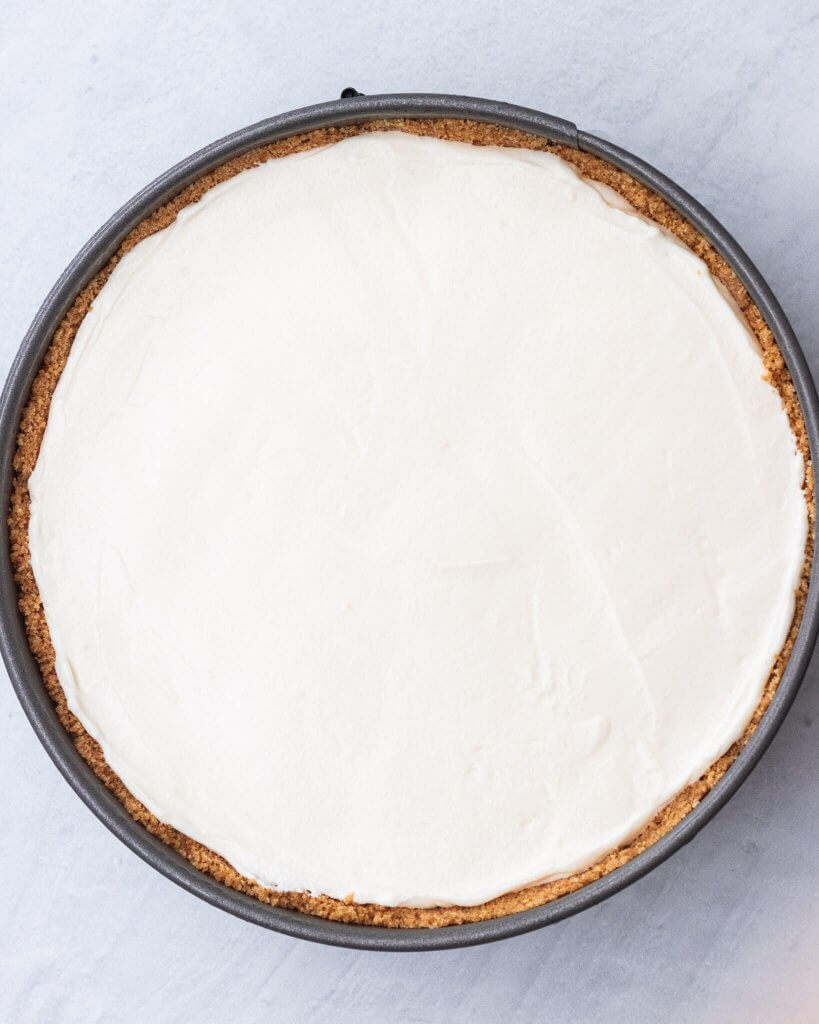 smooth cheesecake top